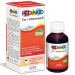 Pediakid Sirop Fer + Vitamine B Enfants 125ml