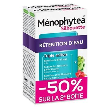 Ménophytea Silhouette Rétention d'Eau Lot de 2 x 30 Comprimés
