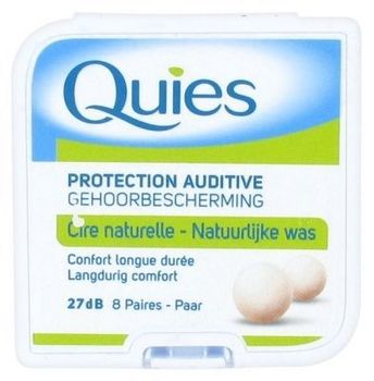 Quies Cire naturelle - 8 Paires