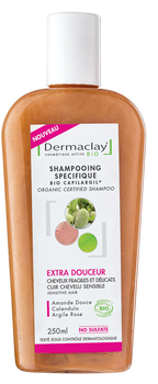 Dermaclay shampooing bio specifique extra douceur 250ml