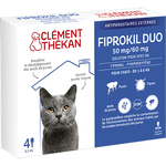 Fiprokil Duo pour Chat - 4 pipettes de 0,5 ml