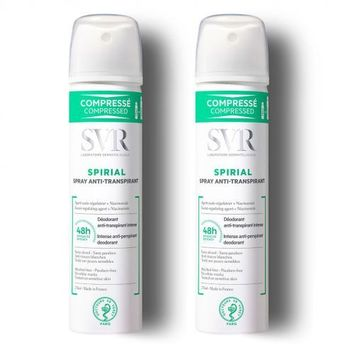 SVR Spirial spray compréssé anti-transpirant lot 2x75ml