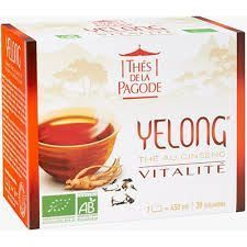 Thé Yelong 30 infusettes Thé au ginseng