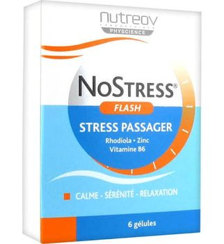 Date courte 08/19.Nutreov No Stress Flash - 6 gélules