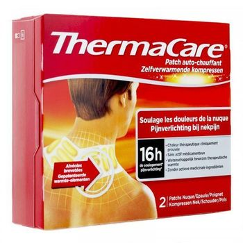 Date courte 07/19.THERMACARE PATCH CHAUFFANT NUQUE, EPAULE, POIGNET X 2