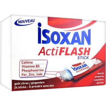 Date courte 09/19.Isoxan actiflash - 24 Sticks Citron