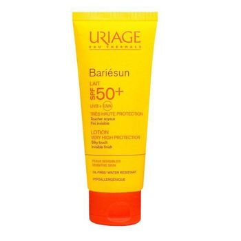 Date courte 03/20.Uriage Bariésun Lait haute protection SPF50+ 100ml