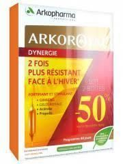 ArkoRoyal Dynergie: Complexe Stimulant lot 2 X 20 ampoules