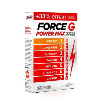 Force G Power Max 20 Ampoules Nutrisanté