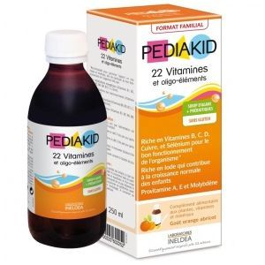Produit neuf  Reconditionné  Pediakid 22 vitamines et oligo-elements 250ml