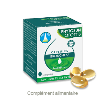 Date courte 06/20.PHYTOSUN AROMS Aroma Doses Bronches 30 capsules