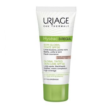 Date courte 04/20  Uriage Hyséac 3-Regul Soin Global Teinté IP30 Tube 40ml