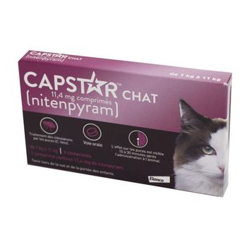 Elanco Capstar Chat 11,4mg 6 Comprimés