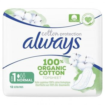 Always Serviettes Cotton Protection Normal Plus 12 unités