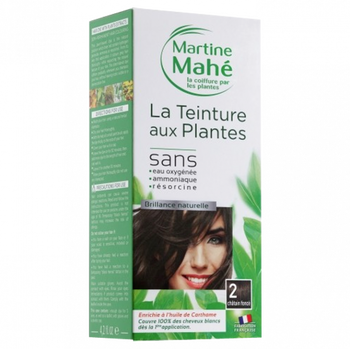 Martine Mahé Teinture aux plantes 5 applications 2 chatain foncé
