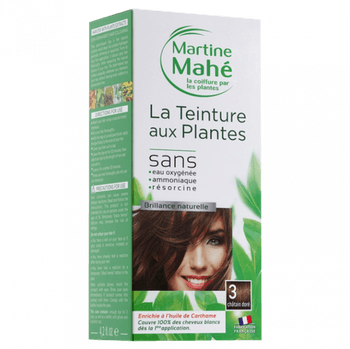 Martine Mahé Teinture aux plantes 3 applications 3 chatain doré