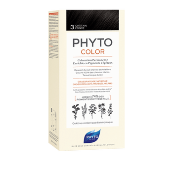 Phytocolor coloration permanente 3 chatain foncé Phyto