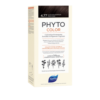 Phytocolor coloration permanente 4.77 chatain marron profond