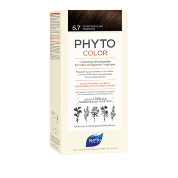 Phytocolor coloration permanente 5.7 chatain clair marron