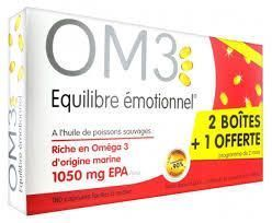 OM3 Équilibre Émotionnel LOT 3X 60 Capsules