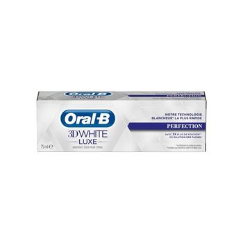 Date courte 08/20 ORAL B 3D White luxe dentifrice perfection 75ml