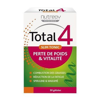 Date courte 10/20.Nutreov Physcience Total 4 Slim Tonic 30 gélules