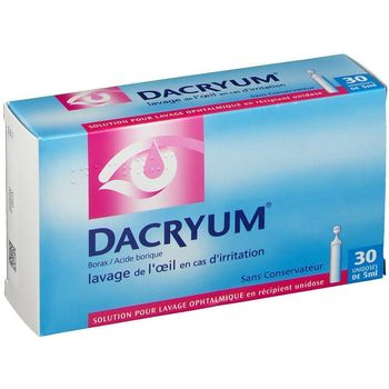 Dacryum solution pour lavage ophtalmique 30  unidoses de 5ml
