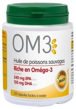 OM3 Huile de Poissons Sauvages 120 capsules +30 offertes