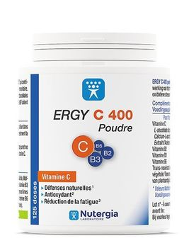 Ergy C 400 vitamince C poudre 125g Nutergia