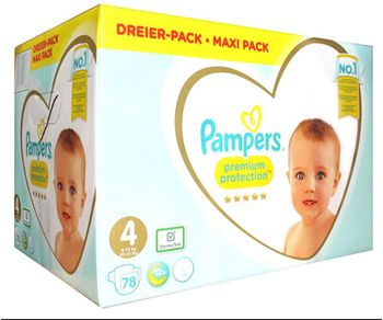 Pampers Premium Protection Couche 78 couches