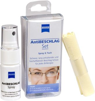 Zeiss kit anti buée un spray 15ml + 1 microfibre