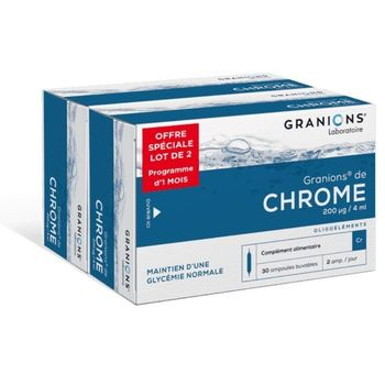 Granions de Chrome 200ug LOT 2 X 30 Ampoules