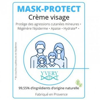 Mask protect crème visage 500ml Yvery
