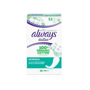 Always Dailies Cotton Protection 38 Protège-Slips Normal