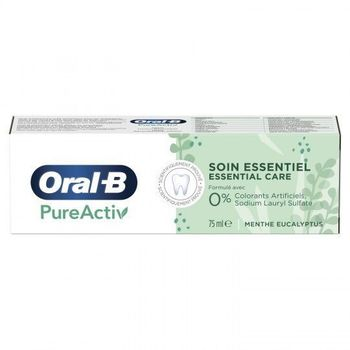 Oral-B Dentifrice PureActiv Soin Essentiel tube 75ml