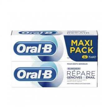 Oral B Dentifrice Répare Gencives & Email Blancheur Lot de 2 x 75ml