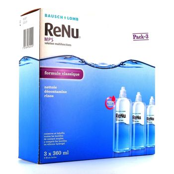 Bausch + Lomb ReNu MPS Solution Multifonctions Lot de 3 x 360 ml