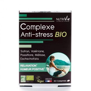 Nutrivie Complexe Anti-stress BIO 30 comprimés
