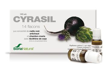 Date courte 05/21 Cyrasil 14 flacons Soria Natural 140ml