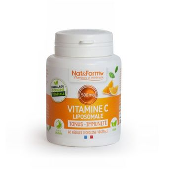 Nat & Form Vitamine C liposomale 500 mg 60 gélules