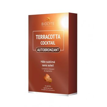 Date courte 05/21 Biocyte Terracotta Cocktail Autobronzant - 30 comprimés