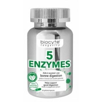 Date courte 06/21 Biocyte 5 enzymes 60 capsules