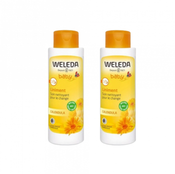 Weleda Baby bio Liniment lot 2 x 400ml