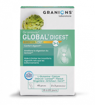 Date courte 07/21 Granions Global'Digest 45 gélules