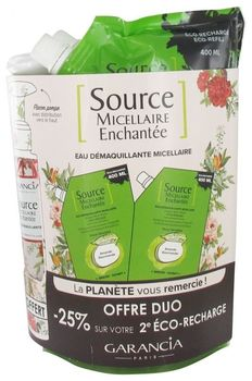 Garancia source micellaire amande lot 2 X 400ml + flacon