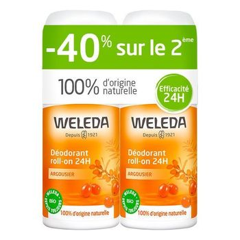 Weleda Déodorant 24h roll-on Argousier bio lot 2 X 50ml