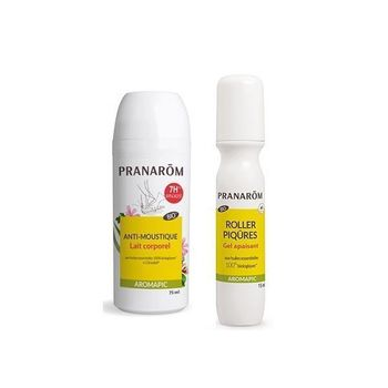 Pranarôm Aromapic Roll-On Anti Moustiques Bio 75ml+ Roller Piqûres 15ml
