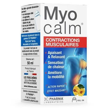3C Pharma Myocalm Contractions Musculaires Roll-on 50ml