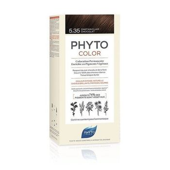 Phytocolor coloration permanente 5.35 chatain clair chocolat