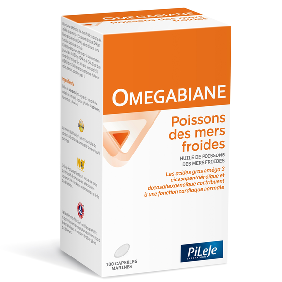 Omegabiane poissons des mers froides 100 capsules Pileje